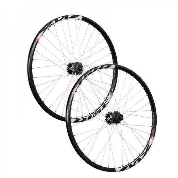 26 pollici set ruote bici Mach1 MX Disc Shimano M475 6 fori nero