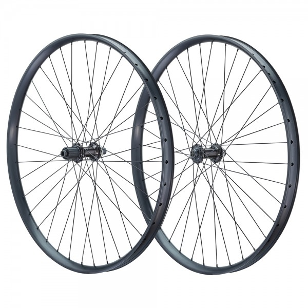 Vuelta 27.5 inch bicycle wheelset EM34 disc Shimano Deore M6010 black