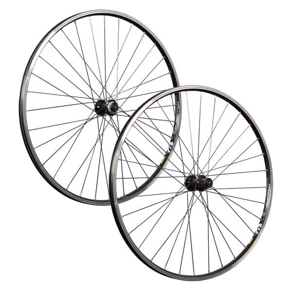 28 inch bicycle wheelset set Mavic A119 eyelet Shimano TX505 CL disc black