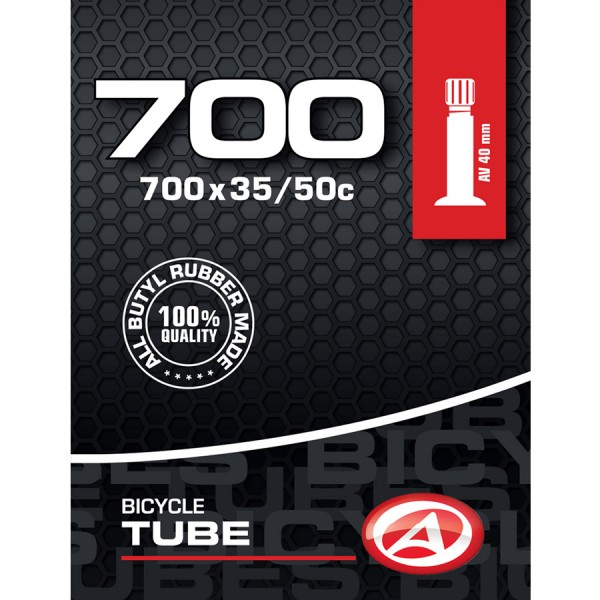 Bicycle tube 28 inch AV Schrader 40mm 35/50-622/635 trekking citybike