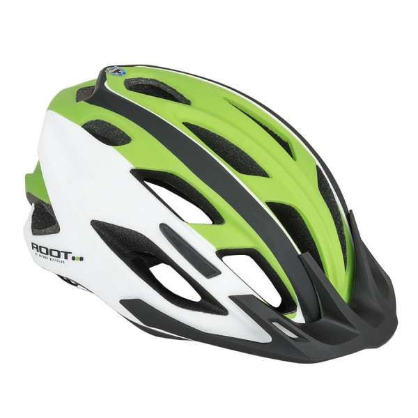 Bicycle helmet Root inmold Size M 59cm-61cm Dial-Fit green white