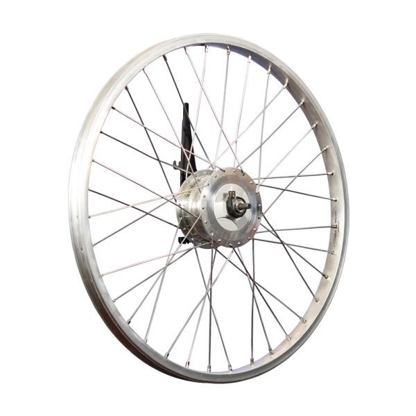 Wheel 24 inch front wheel alloy rim Sturmey Archer drum brake Dynamo XL-FDD silver