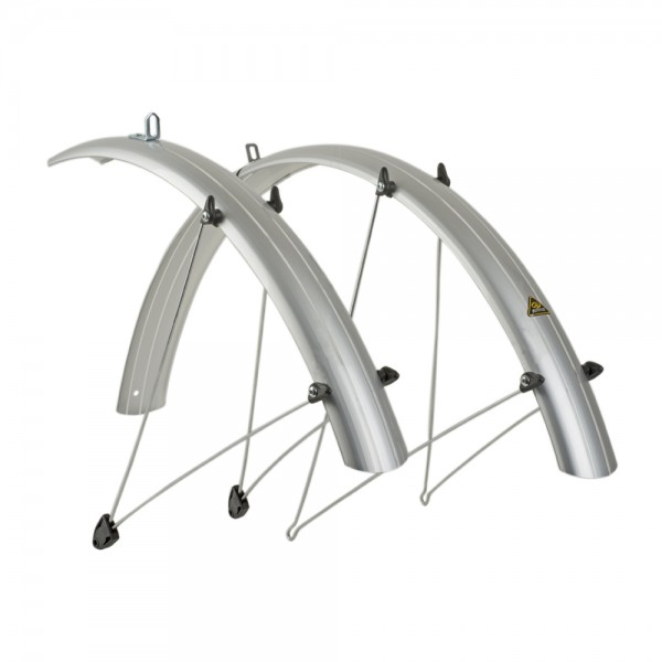 Mudguard set Author 26 inch bicycle set plastic silver 60mm