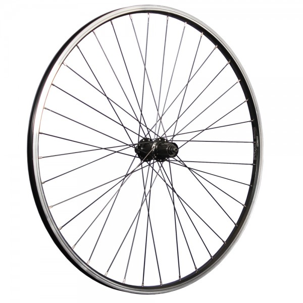 28 inch bicycle rear wheel double wall rim Shimano FH-TX500 7-10 speed black