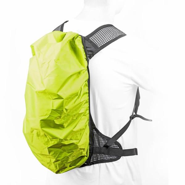 bici trekking protezione contro la pioggia A-O21 per zaino impermeabile verde-giallo