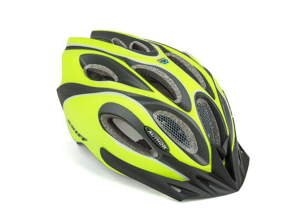 Bicycle helmet Skiff Size M 52cm-58cm Insect protection Dial-Fit yellow