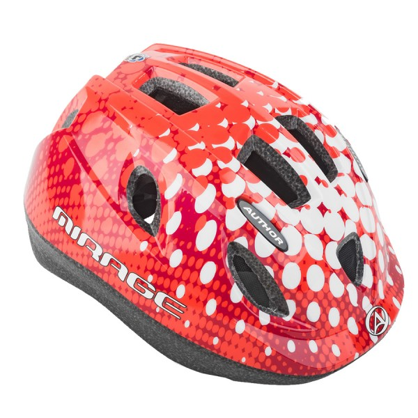 Bicycle helmet Mirage children helmet size S 48cm-54cm Dial-Fit LED red