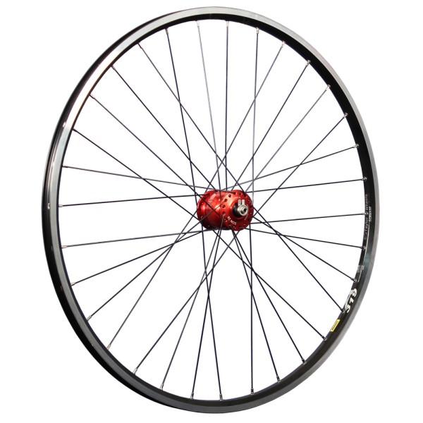 28 inch front wheel double wall rim Mavic eyelet SON 28 hub dynamo red